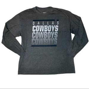 NFL Dallas Cowboys Football Long Sleeve Tee Gray